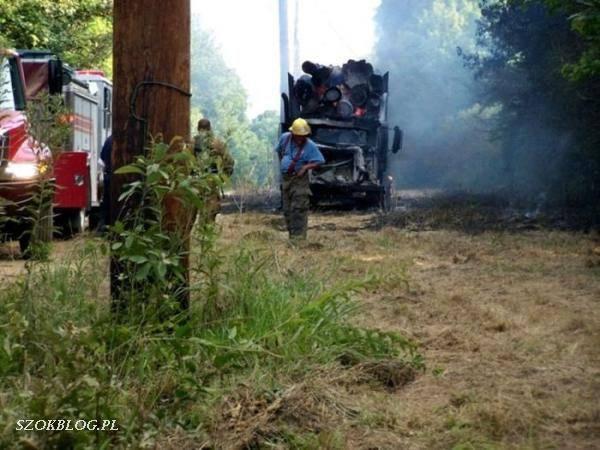 Ciężarówka spłonęła doszczętnie 3