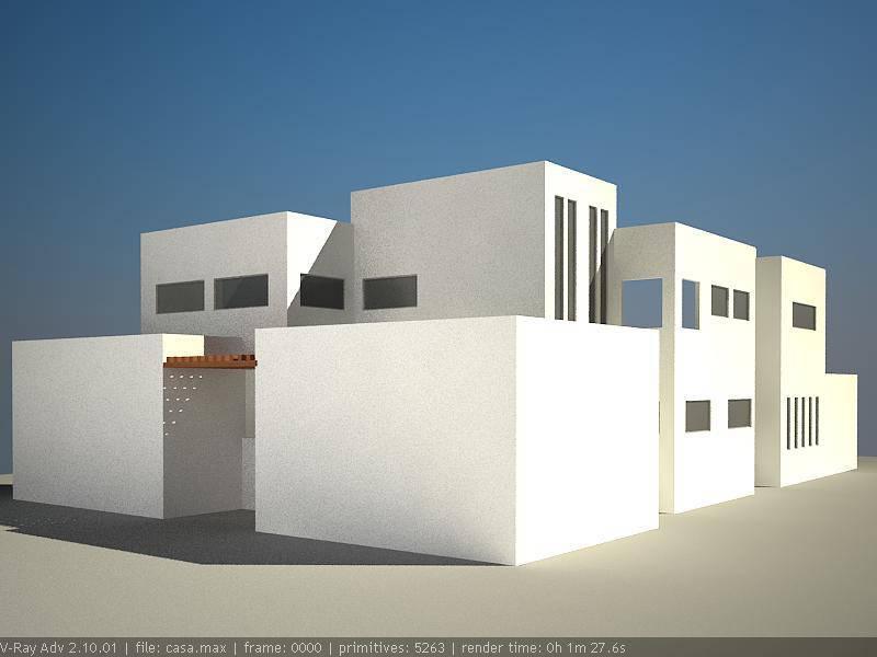 Casa con 3ds + vray