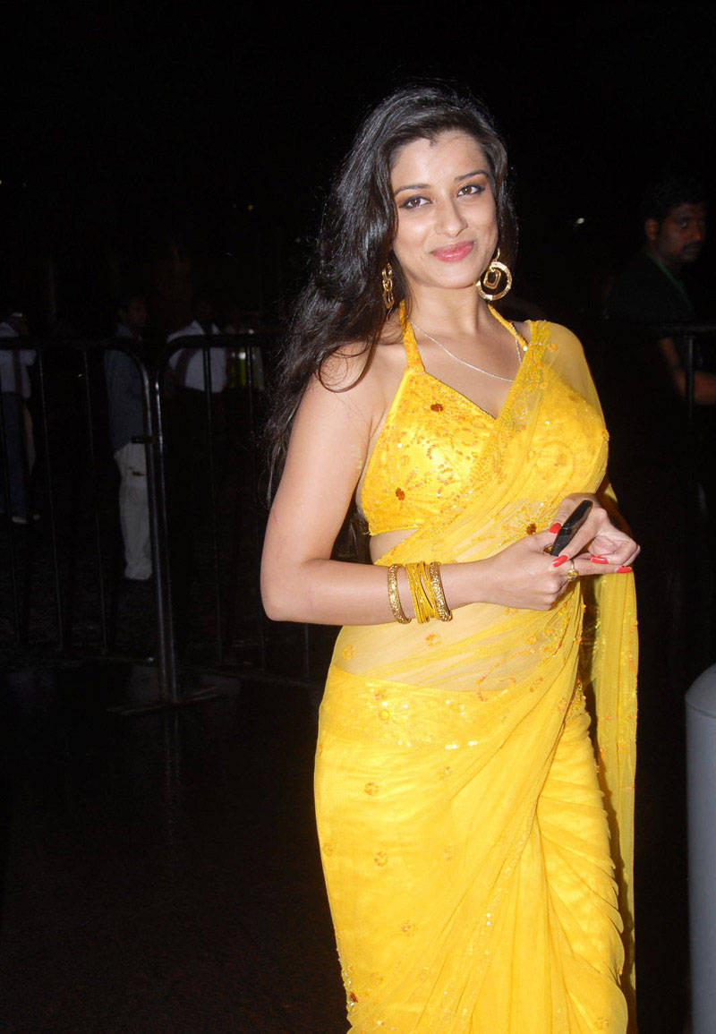 MADHURIMA GLORIUS STILLS IN SAREE AT SANTOSHAM AWARDS cleavage