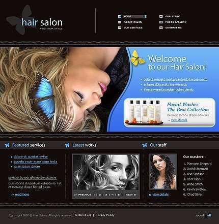 Hair Salon Websites : Tempates FREE Download: Hair Salon Free Template Css Website Download