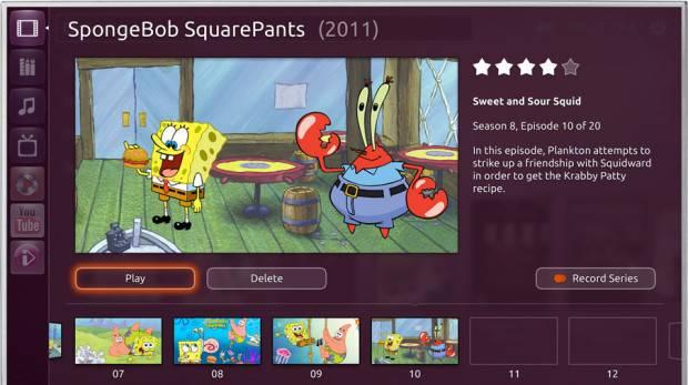 Ubuntu TV screen