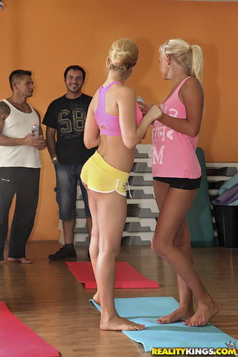 EuroSexParties.com - Aleska Diamond, Sabby, Ivana Suga - Yoga love