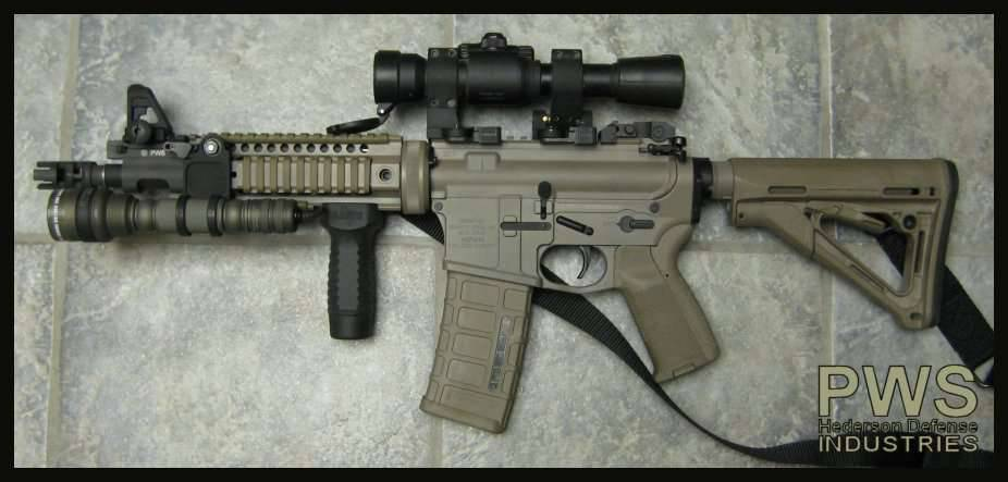 ... procyon or surefire m300. the pentagonlight seems HUGE on a shorty.
