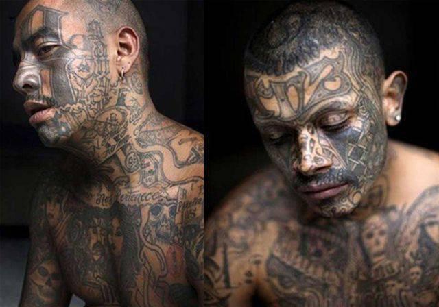Tatuaże na twarzy 8