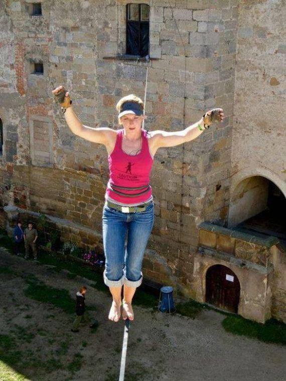 Faith Dickey - kobieta pozbawiona lęku wysokości 13