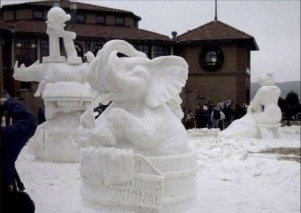 Śnieżne rzeźby 3