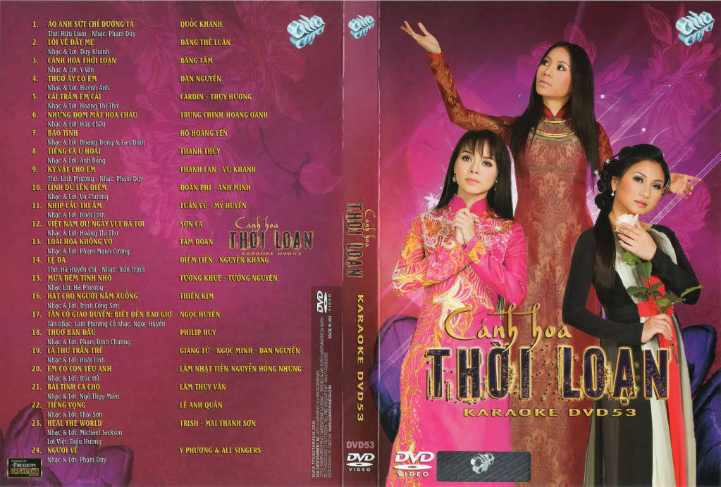 "ASIA 53 Karaoke "" Cánh Hoa Thời Loạn "" DVD9"
