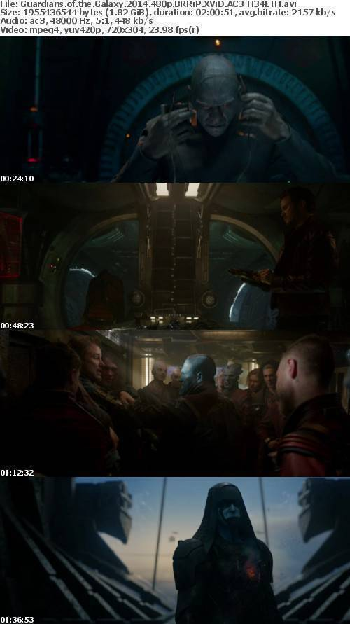 Guardians of the Galaxy 2014 480p BRRiP XViD AC3-H34LTH