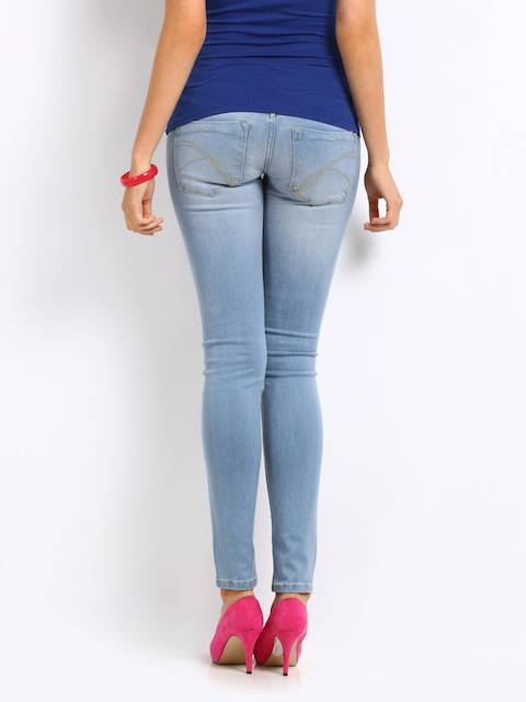 Womens Blue Skinny Jeans  Next