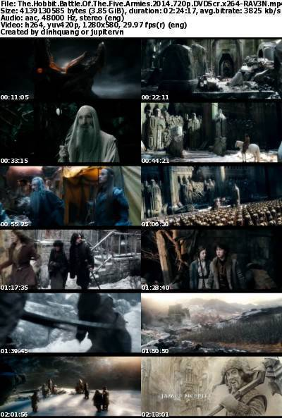 The Hobbit The Battle of the Five Armies (2014) 720p DVDScr x264-RAV3N
