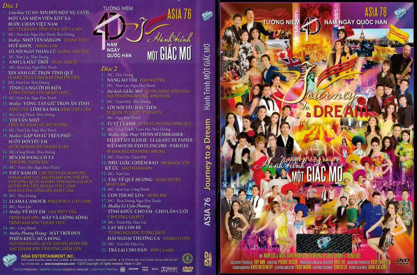 Asia 76 - Hành Trình Một Giấc Mơ Bluray-Disc ISO