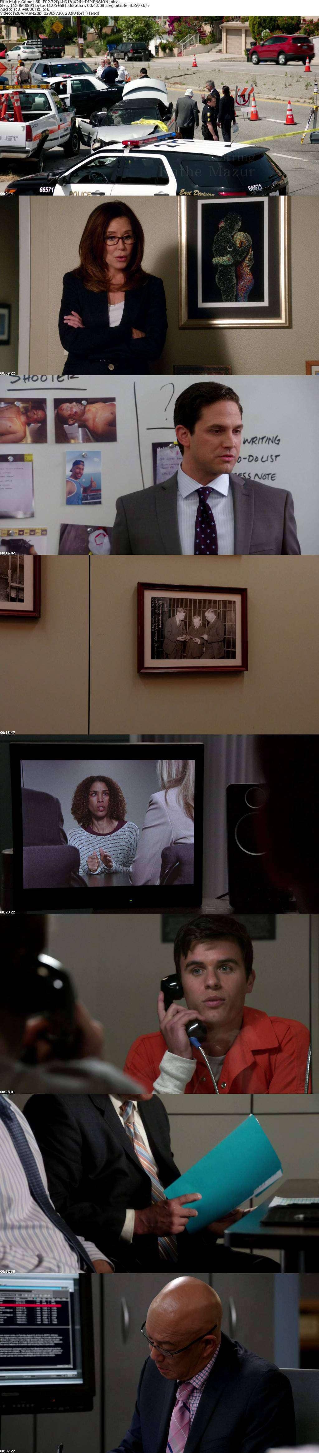 Major Crimes S04E02 720p HDTV X264-DIMENSION