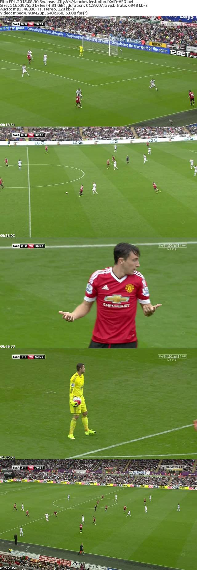 EPL 2015 08 30 Swansea City Vs Manchester United XviD-AFG