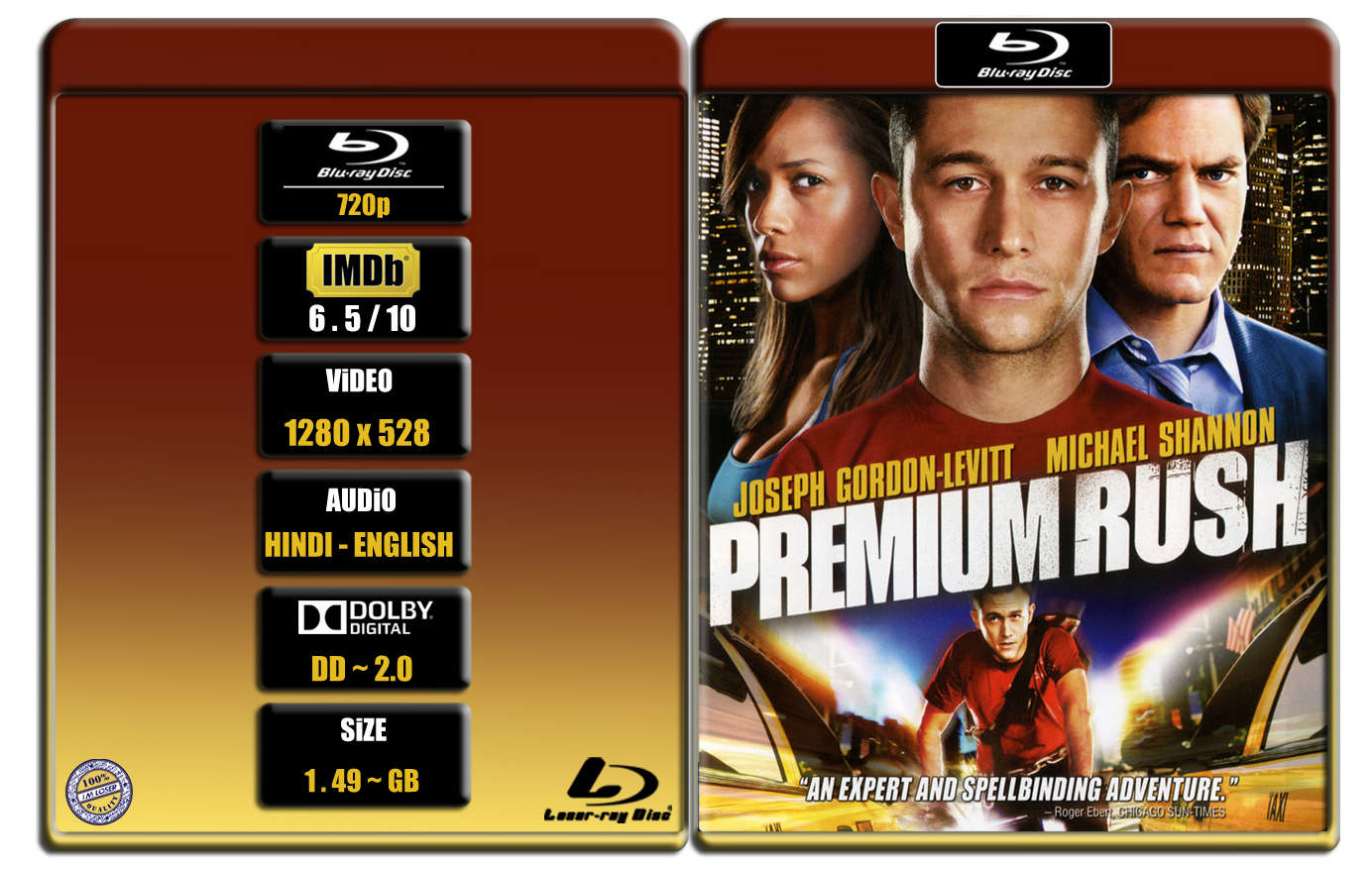Premium Rush [2012] 720p BR Rip x264 [DD 2.0] [HINDI ENG] ® Im Loser ® 1.5 GB
