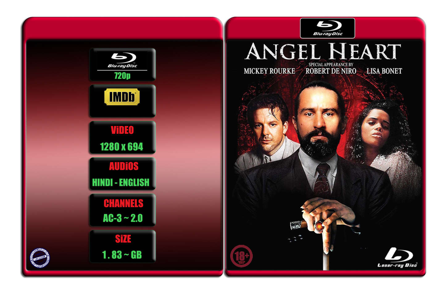 [+18] Angel Heart [1987] 720p BR Rip x264 [AC-3 ~ 2.0] [HINDI – ENG] ® Im Loser ® 1.8 GB