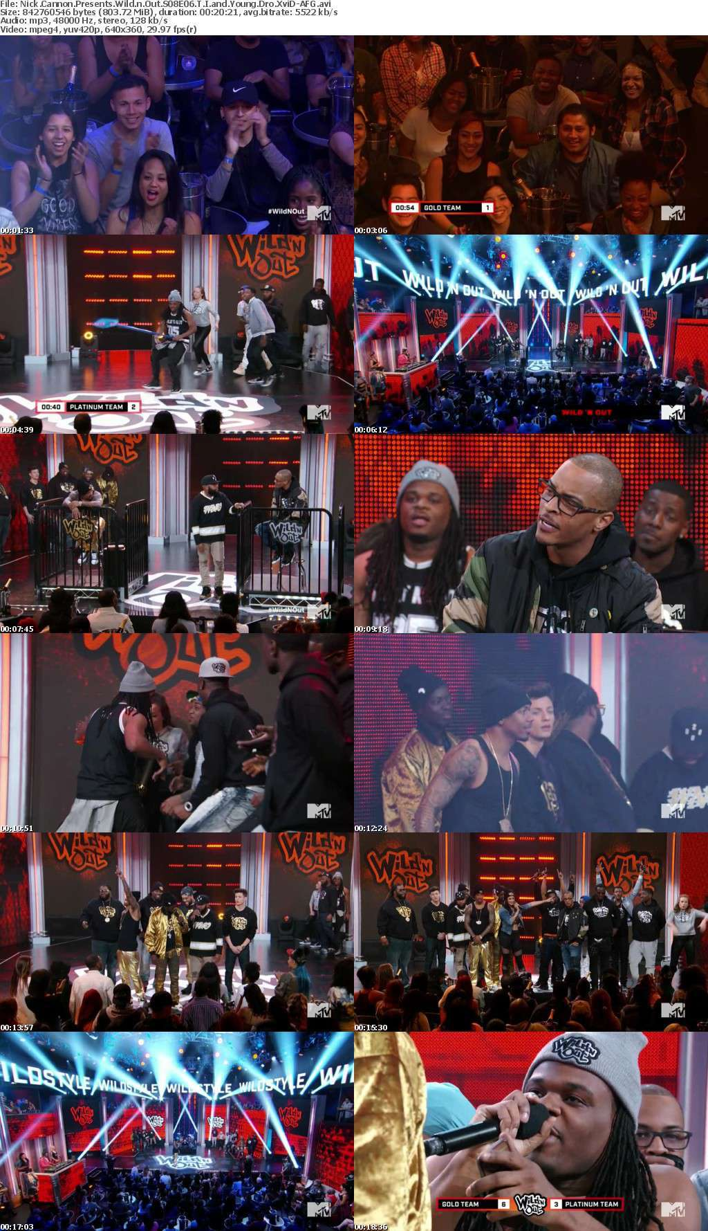 Nick Cannon Presents Wild n Out S08E06 T I and Young Dro XviD-AFG