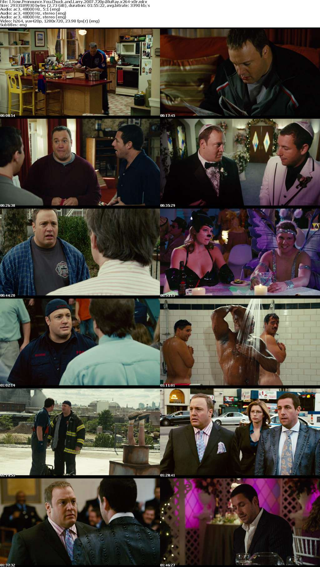 I Now Pronounce You Chuck and Larry 2007 720p BluRay x264 x0r