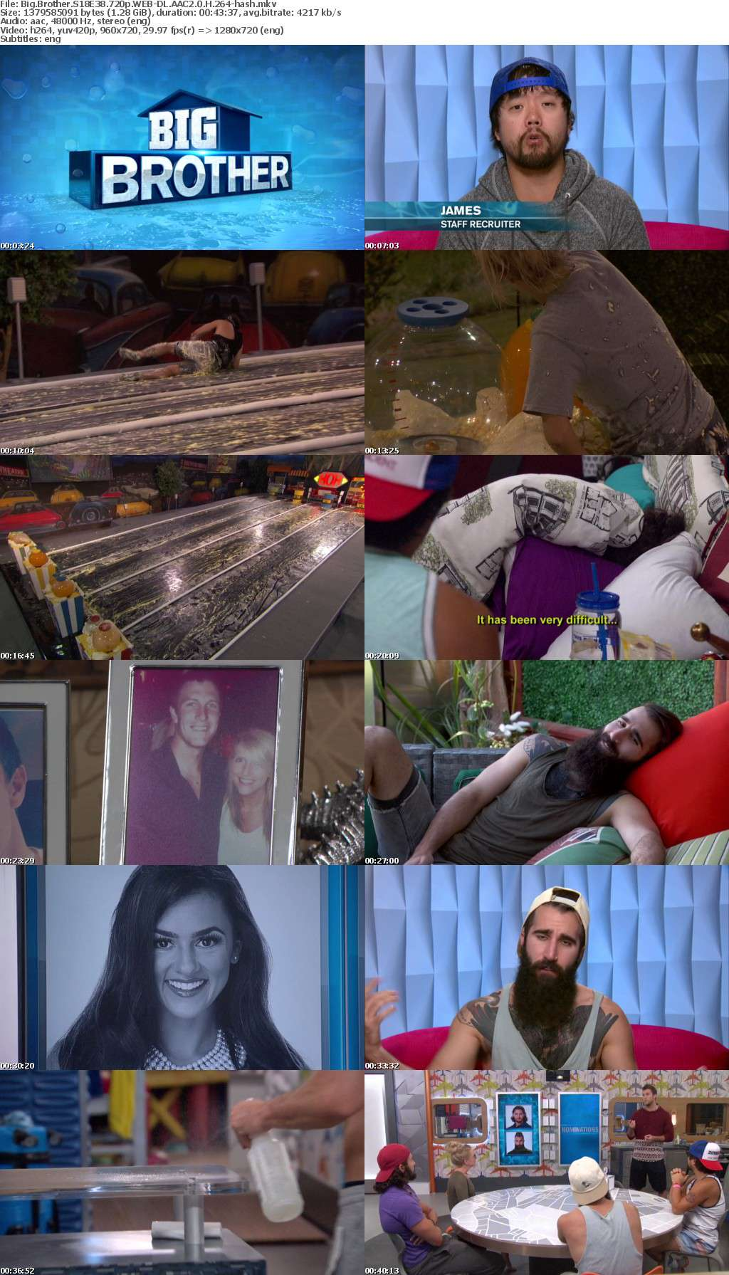 Big Brother S18E38 720p WEB-DL AAC2 0 H 264-hash