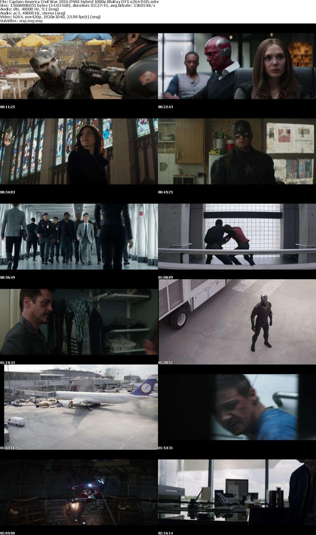 Captain America Civil War 2016 IMAX Hybrid 1080p BluRay DTS x264-DON