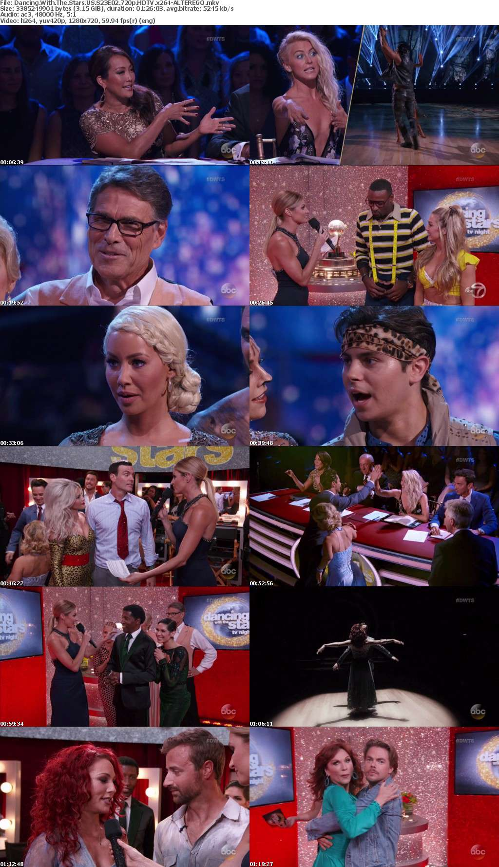 Dancing With The Stars US S23E02 720p HDTV x264-ALTEREGO