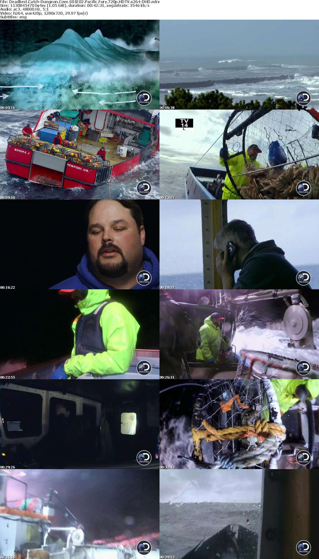 Deadliest Catch-Dungeon Cove S01E02 Pacific Fury 720p HDTV x264-DHD
