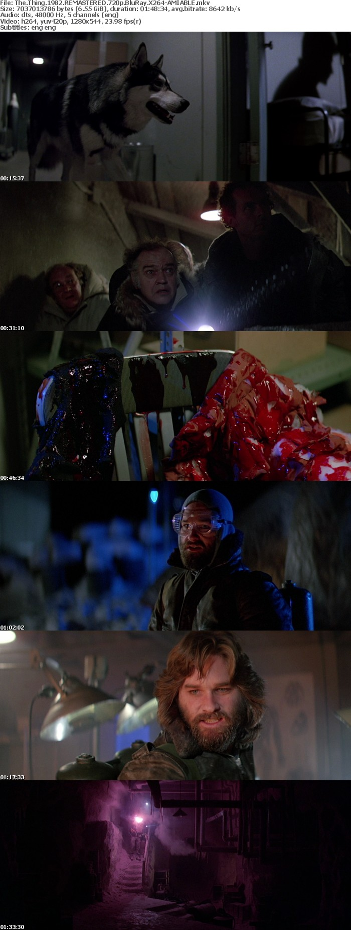 The Thing 1982 REMASTERED 720p BluRay X264-AMIABLE