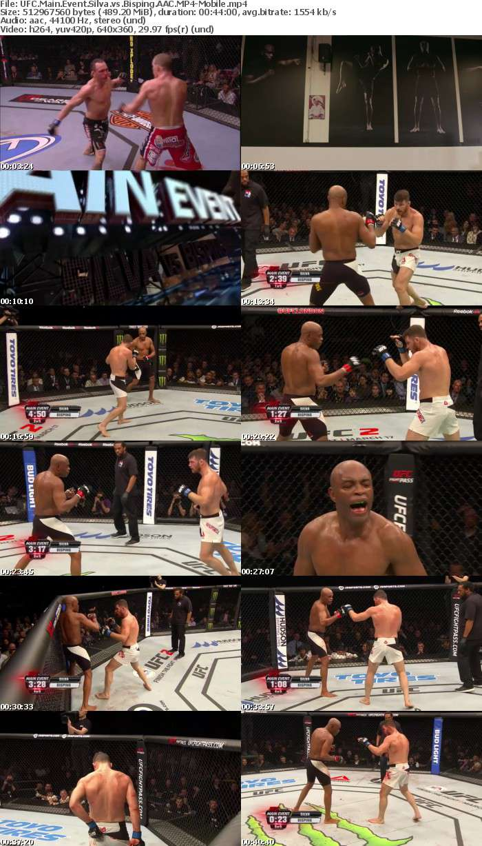 UFC Main Event Silva vs Bisping AAC-Mobile