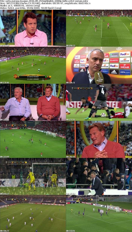 UEFA Europa League 2016 09 29 Highlights 1080p HDTV x264-VERUM