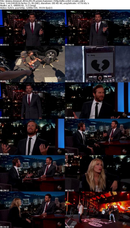 Jimmy Kimmel 2016 09 29 Armie Hammer 720p HDTV x264-CROOKS