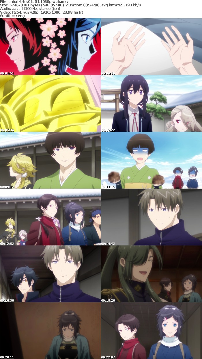 Touken Ranbu Hanamaru S01E01 1080p WEB x264-ANiURL