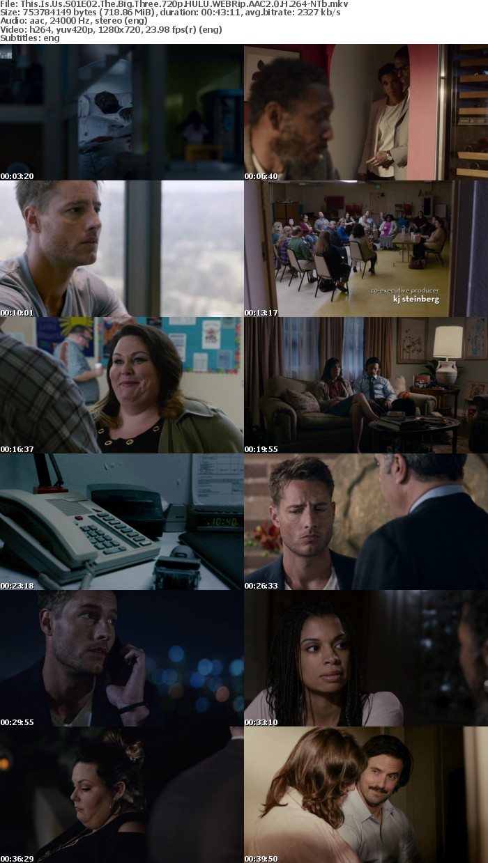 This Is Us S01E02 The Big Three 720p HULU WEBRip AAC2 0 H 264-NTb