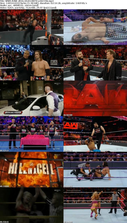 WWE RAW 2016 10 03 HDTV x264-Ebi