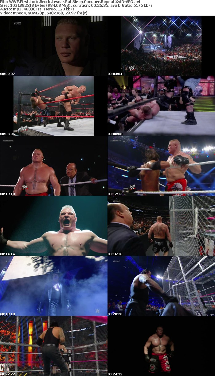 WWE First Look Brock Lesnar Eat Sleep Conquer Repeat XviD-AFG