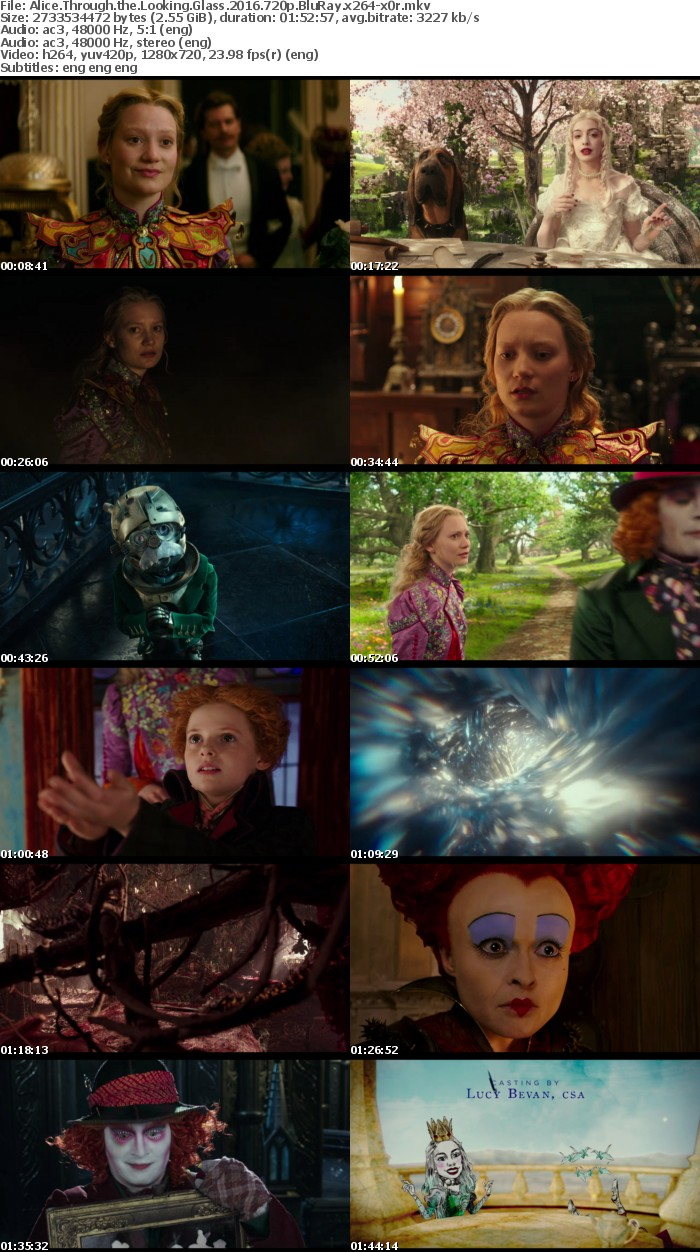 Alice Through the Looking Glass 2016 720p BluRay x264-x0r