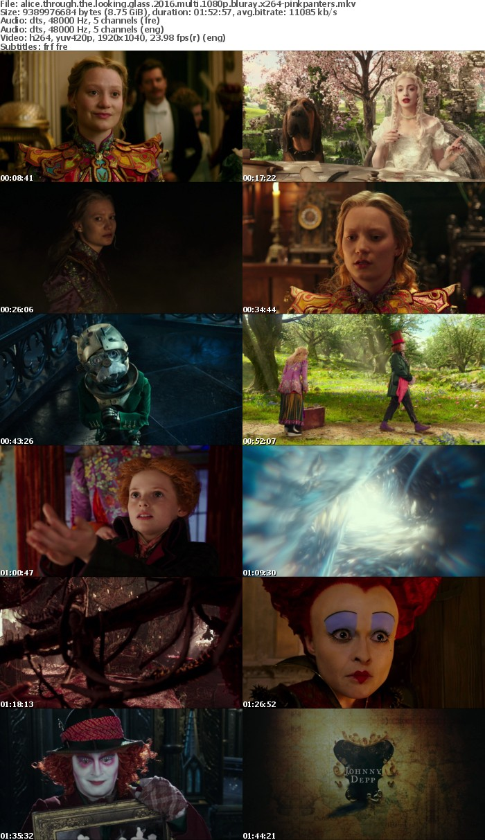 Alice Through the Looking Glass 2016 MULTI 1080p BluRay x264-PiNKPANTERS