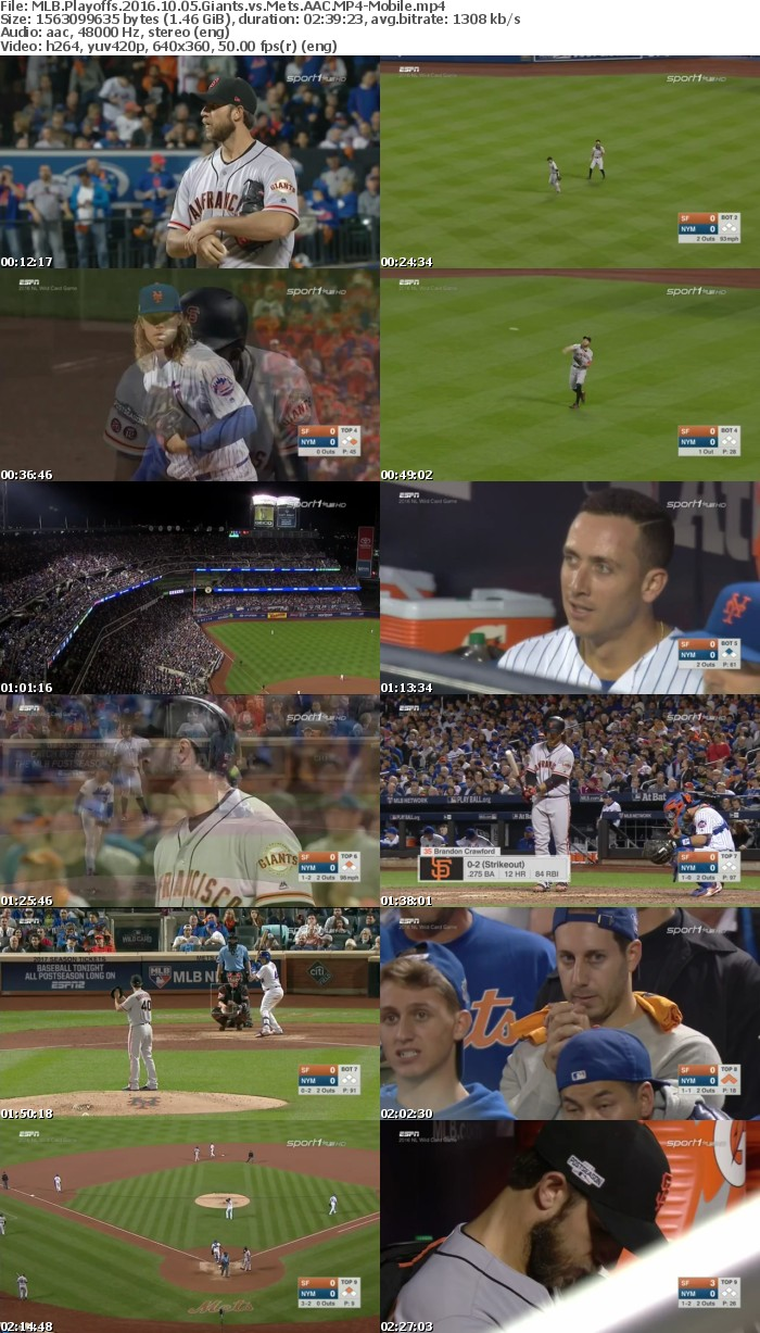 MLB Playoffs 2016 10 05 Giants vs Mets AAC-Mobile