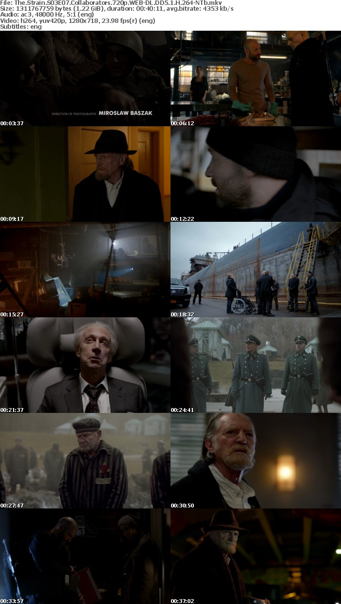 The Strain S03E07 Collaborators 720p WEB DL DD5 1 H 264 NTb