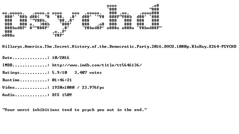 Hillarys America The Secret History of the Democratic Party 2016 DOCU 1080p BluRay X264-PSYCHD