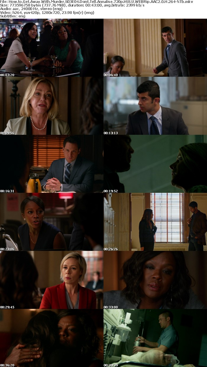 How to Get Away With Murder S03E04 Dont Tell Annalise 720p HULU WEBRip AAC2 0 H 264 NTb