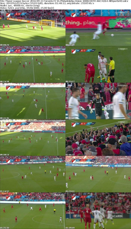 Major League Soccer 2016-09-24 Toronto FC Vs Philadelphia Union 1080i HDTV AAC H264-AllSportsHD