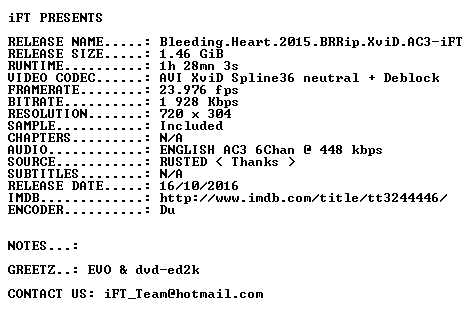 Bleeding Heart 2015 BRRip XviD AC3-iFT