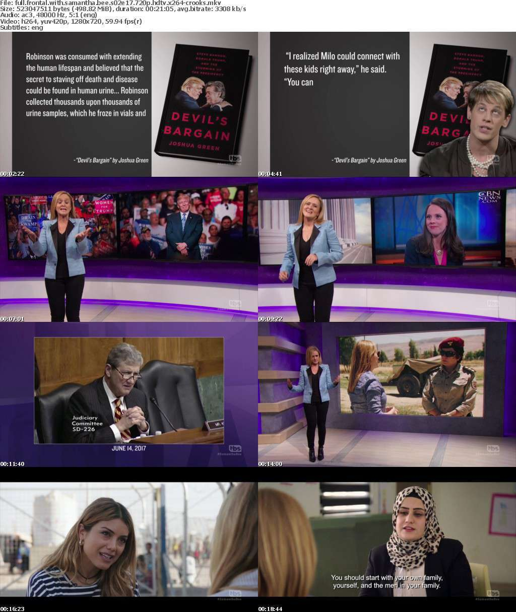 Full Frontal With Samantha Bee S02E17 720p HDTV x264-CROOKS