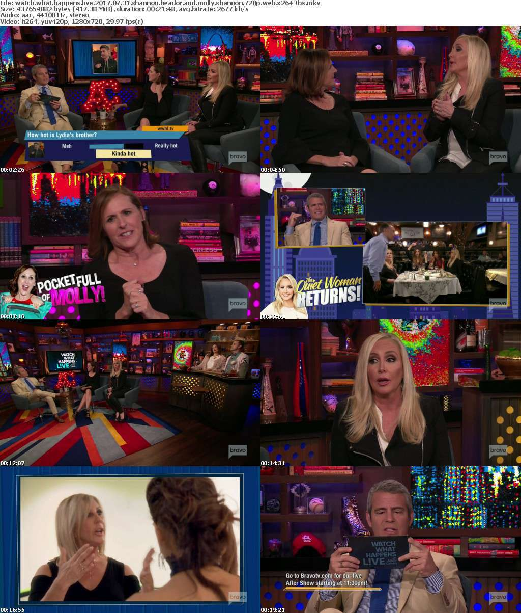 Watch What Happens Live 2017 07 31 Shannon Beador and Molly Shannon 720p WEB x264-TBS