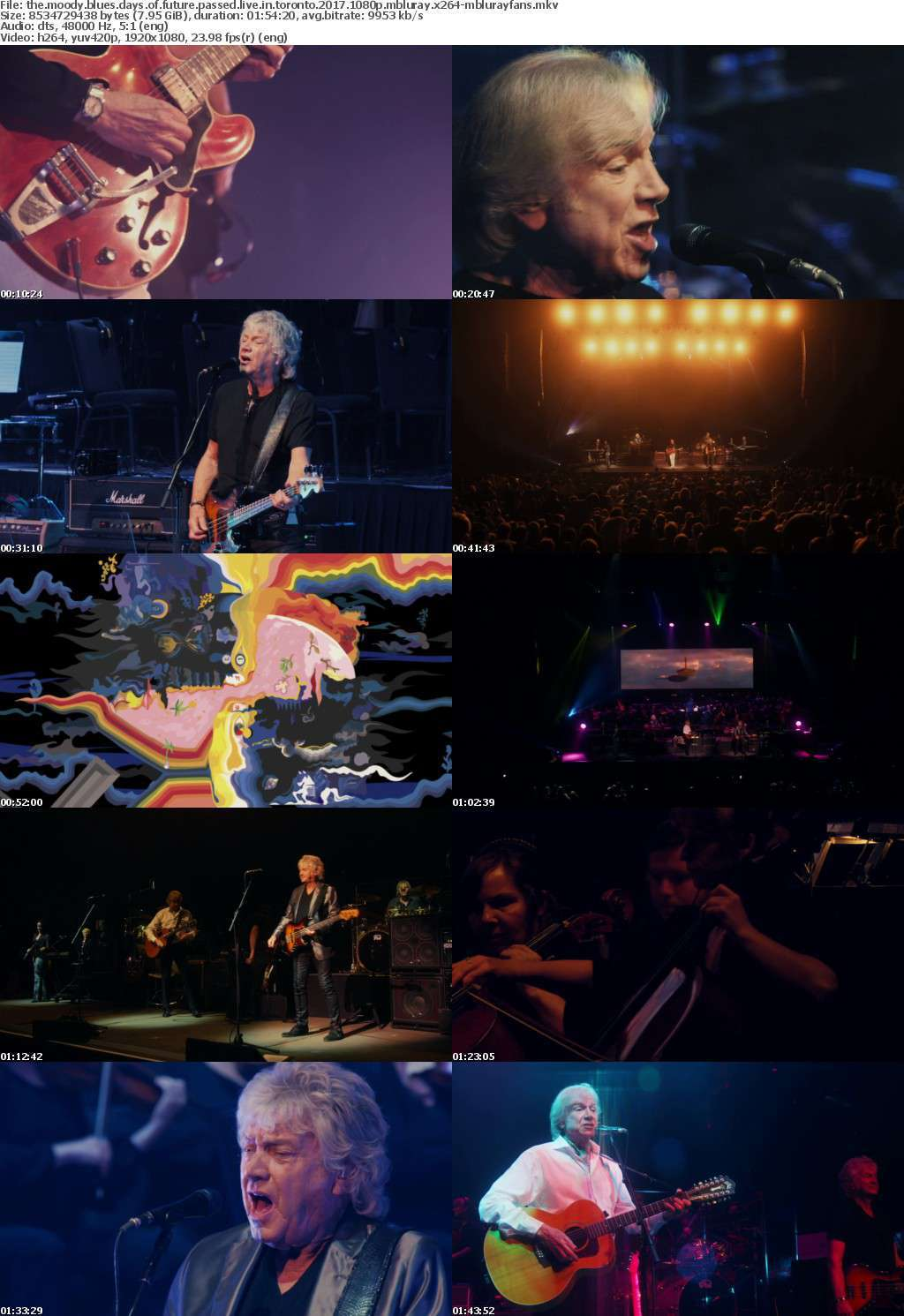 The Moody Blues Days Of Future Passed Live in Toronto 2017 1080p MBLURAY x264-MBLURAYFANS