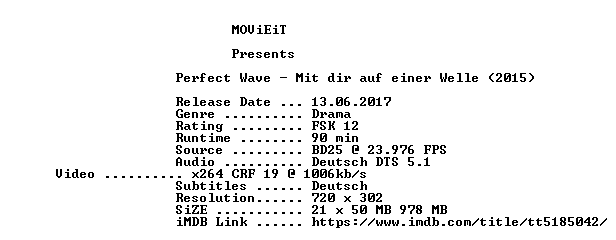 Perfect Wave German 2015 BDRiP x264-MOViEiT