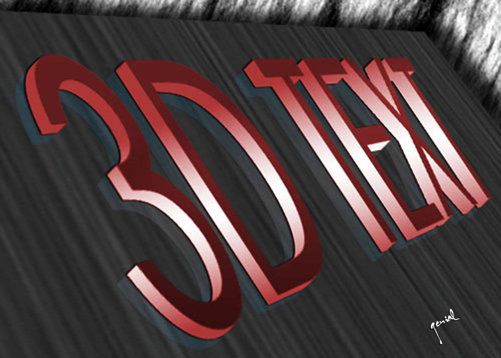 3D Text Effect with Adobe Illustrator CS3