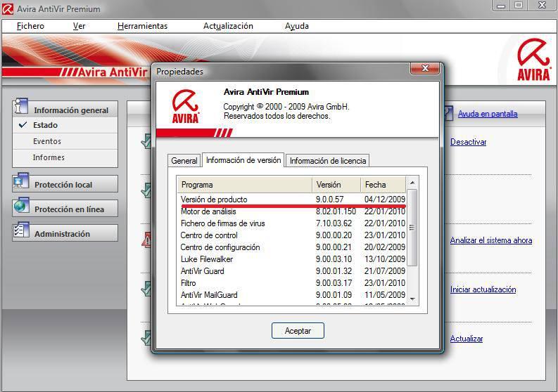 ANTIVIR PREMIUM 8.2.0.373 TÉLÉCHARGER AVIRA