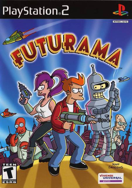 Futurama   PS2 playstation 2 plataforma aventura ano 2009 animacao