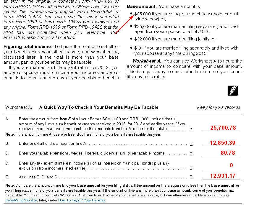 Example Filing Single Do I Owe Taxes For 2013 On My Ssdi