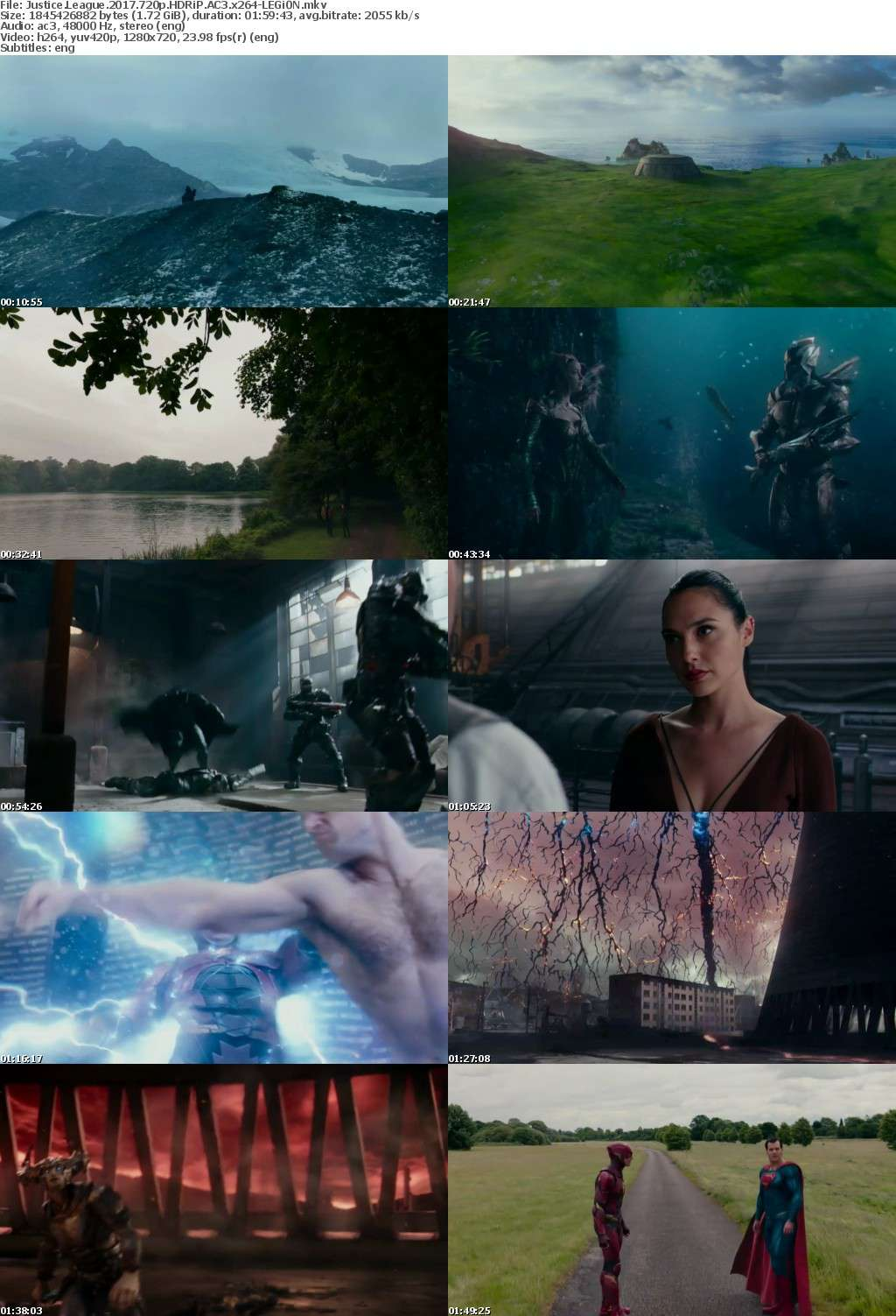 Justice League 2017 720p HDRiP AC3 x264-LEGi0N